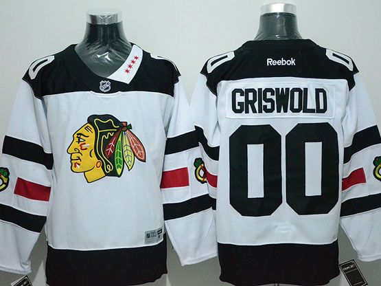 Mens Reebok Nhl Chicago Blackhawks #00 Griswold White (2016 Stadium Series) Jersey