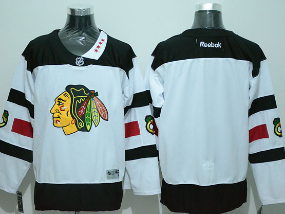 Mens Reebok Nhl Chicago Blackhawks Blank White (2016 Stadium Series) Jersey
