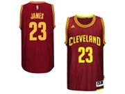 Adidas Cleveland Cavaliers #23 Lebron James Red Swingman Road Jersey
