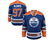 Reebok Edmonton Oilers #97 Connor McDavid Royal Blue Home Premier Jersey
