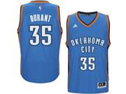 Mens Adidas Oklahoma City Thunder #35 Kevin Durant Blue Player Swingman Road Jersey