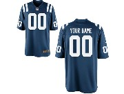Nfl Indianapolis Colts (custom Made) Blue Game Jersey