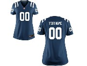 Women Nfl Indianapolis Colts (custom Made) Blue Game Jersey