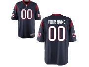 Youth Nfl Houston Texans (custom Made) Blue Game Jersey