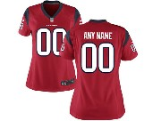 Women  Nfl Houston Texans (custom Made) Red Game Jersey