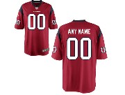 Youth Nfl Houston Texans (custom Made) Red Game Jersey