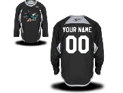 Nhl San Jose Sharks (custom Made) Black (2015 Stadium Series) Jersey