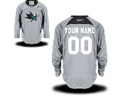Nhl San Jose Sharks (custom Made) Gray (2015 Stadium Series) Jersey