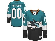Reebok Nhl San Jose Sharks (custom Made) Green (2015 Stadium Series) Jersey