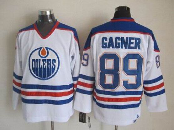 Mens nhl edmonton oilers #89 gagner white throwbacks Jersey