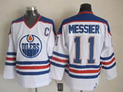 Mens nhl edmonton oilers #11 messier white c patch throwbacks Jersey