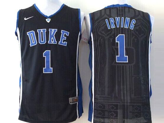 Mens Ncaa Nba Duke Blue Devils #1 Irving Black Jersey Sn