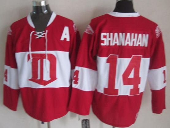 Mens nhl detroit red wings #14 shanahan 2014 alumni showdown throwbacks Jersey