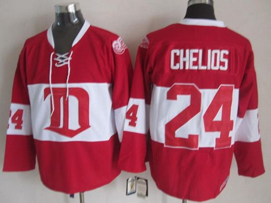 Mens nhl detroit red wings #24 chelios 2014 alumni showdown throwbacks Jersey