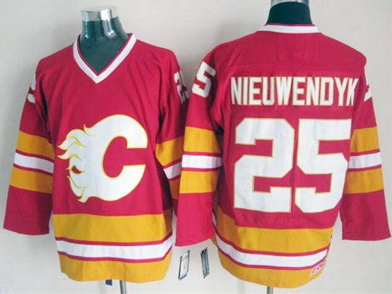 Mens reebok nhl calgary flames #25 nieuwendyk red throwbacks Jersey