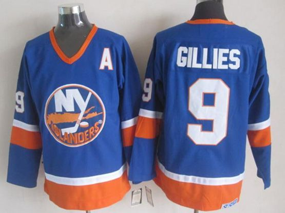 Mens nhl new york islanders #9 gillies blue throwbacks Jersey