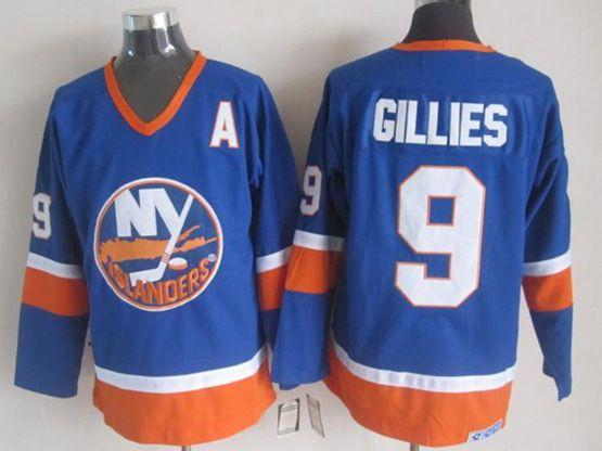 Mens nhl new york islanders #9 gillies blue throwbacks Jersey