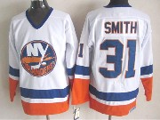 Mens nhl new york islanders #31 smith white throwbacks Jersey