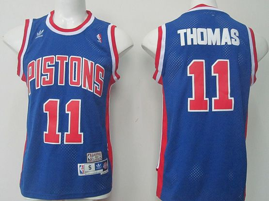 Mens Nba Detroit Pistons #11 Thomas Blue (2015 New) Jersey