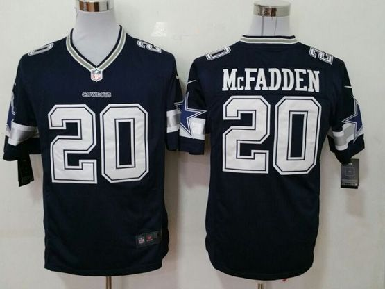 Mens Nfl Dallas Cowboys #20 Mcfadden Blue Game Jersey