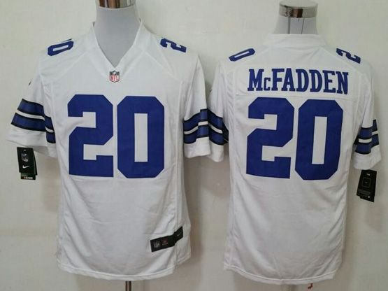 Mens Nfl Dallas Cowboys #20 Mcfadden White Game Jersey