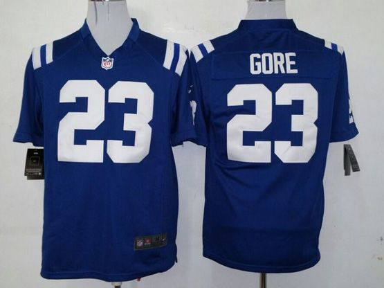 Mens Nfl Indianapolis Colts #23 Gore Blue Game Jersey