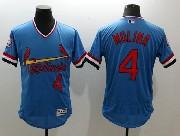 mens majestic st.louis cardinals #4 yadier molina blue Flex Base jersey