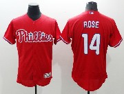 mens majestic philadelphia phillies #14 pete rose red Flex Base jersey