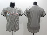 mens majestic miami marlins blank gray Flex Base jersey