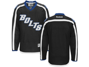 Mens Reebok Nhl Tampa Bay Lightning Blank Black Third Jersey