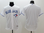 mens majestic toronto blue jays blank white Flex Base authentic collection jersey