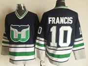 Mens Nhl Hartford Whalers #10 Francis Black New Throwbacks Jersey