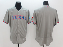 mens majestic texas rangers blank gray Flex Base jersey