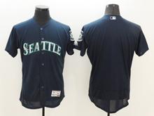 mens majestic seattle mariners blank nvay blue Flex Base jersey