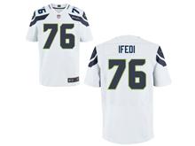 Mens Nfl Seattle Seahawks #76 Germain Ifedi White Elite Jersey