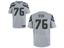 Mens Nfl Seattle Seahawks #76 Germain Ifedi Gray Elite Jersey