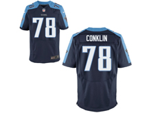 Mens Nfl Tennessee Titans #78 Jack Conklin Navy Blue Elite Jersey