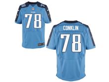 Mens Nfl Tennessee Titans #78 Jack Conklin Light Blue Elite Jersey