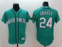 mens majestic seattle mariners #24 ken griffey jr green Flex Base jersey