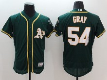 mens majestic mlb oakland athletics #54 sonny gray green Flex Base jersey