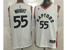 Mens Nba Toronto Raptors #55  Delon Wright White Jersey