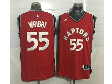Mens Nba Toronto Raptors #55 Delon Wright Red Jersey