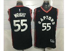 Mens Nba Toronto Raptors #55 Delon Wright Black&red Jersey