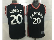 Mens Nba Toronto Raptors #20 Bruno Caboclo Black&red Jersey