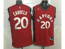 Mens Nba Toronto Raptors #20 Bruno Caboclo Red Jersey