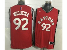 Mens Nba Toronto Raptors #92 Lucas Nogueira Red Jersey