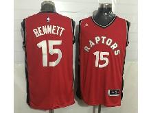 Mens Nba Toronto Raptors #15 Bennett Red Jersey