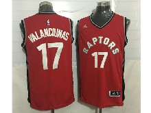 Mens Nba Toronto Raptors #17 Jonas Valanciunas Red Jersey