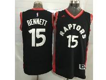 Mens Nba Toronto Raptors #15 Anthony Bennett Black&red Jersey