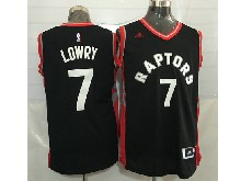 Mens Nba Toronto Raptors #7 Kyle Lowry Black&red Jersey